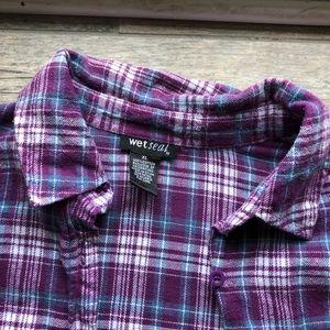 Wet Seal Tops - Purple super soft flannel